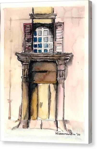 Picturesque Door Canvas Print by Kostas Koutsoukanidis