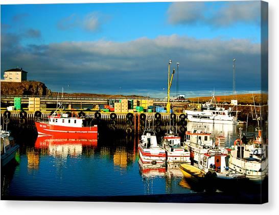 Picturesque Harbour Canvas Print