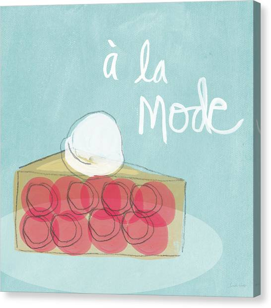 Food Canvas Print - Pie A La Mode by Linda Woods