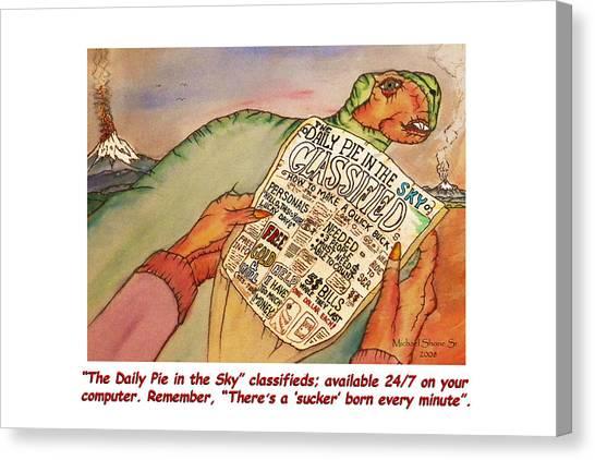 Pie In The Sky Money Deals Canvas Print