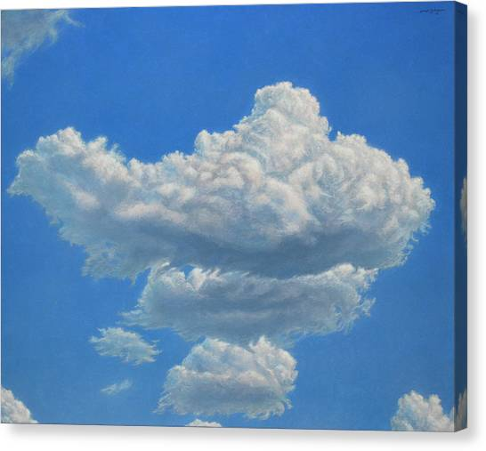 Cloud Canvas Print - Piece Of Sky 3 by James W Johnson