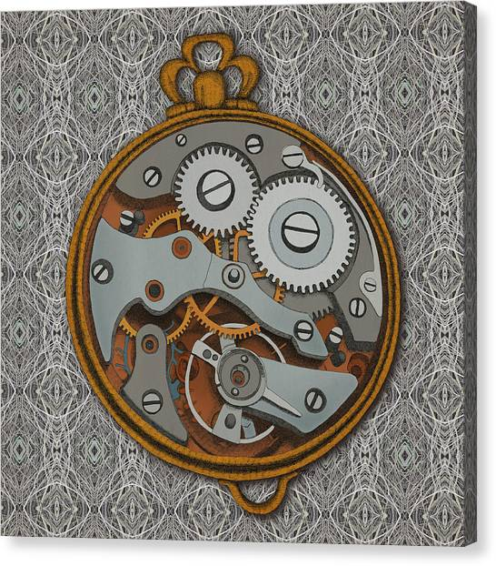 Steam Punk Canvas Print - Pieces Of Time by Meg Shearer