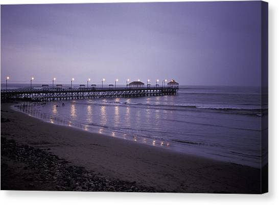 Pier At Dusk Canvas Print