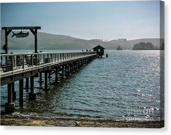 Pier At Nick's Cove Canvas Print