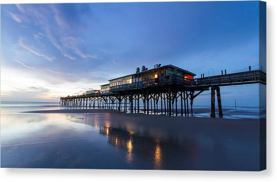 Pier At Twilight Canvas Print