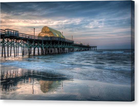 Pier Before Sunrise Canvas Print