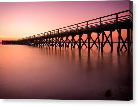 Pier Into The Distance Canvas Print
