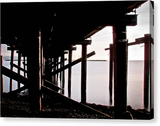 Pier Ocean And Angles Canvas Print
