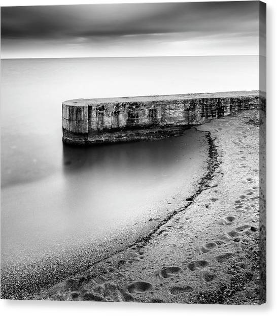 Athens Canvas Print - Pier On The Beach by George Digalakis