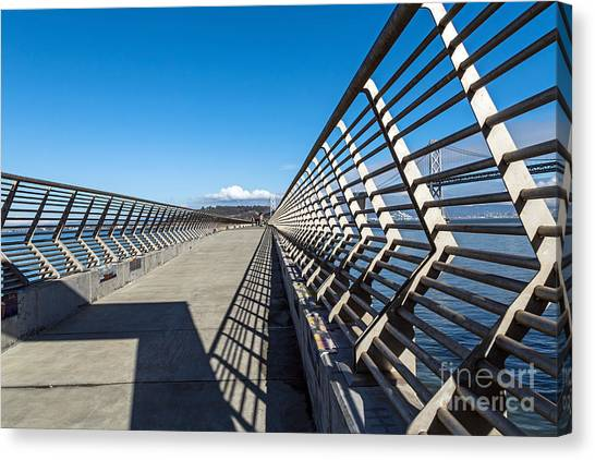 Canvas Print featuring the photograph Pier Perspective by Kate Brown