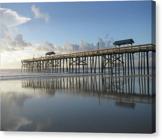 Pier Reflection Canvas Print