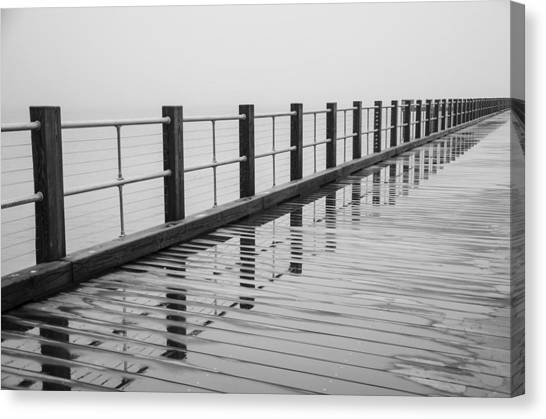 Pier Reflections Canvas Print