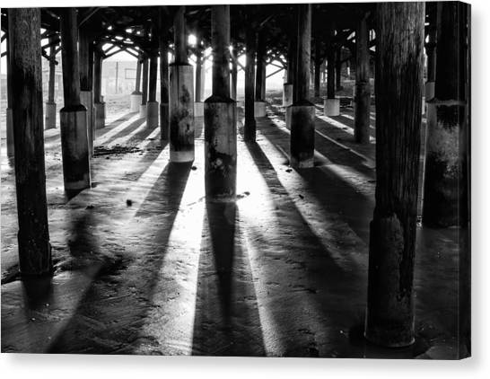 Pier Shadows Canvas Print