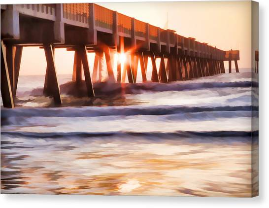 Pier Sunrise Too Canvas Print
