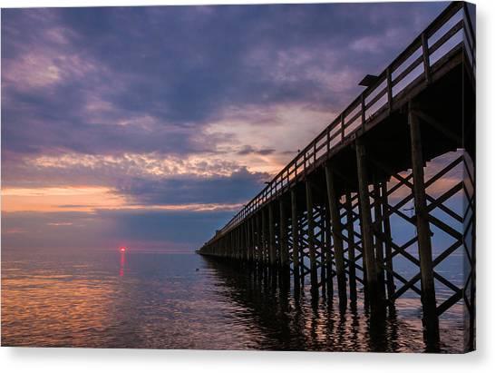 Pier To The Horizon Canvas Print