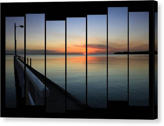Pier View Sunset Canvas Print