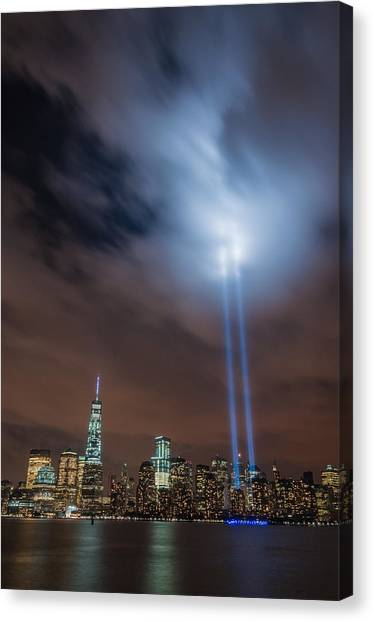 911 Tribute Canvas Print - Pierce The Sky by Kristopher Schoenleber