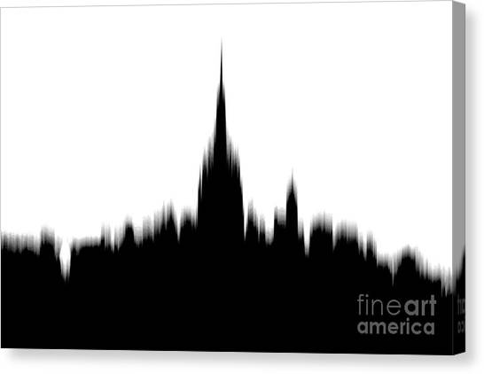 Empire State Building Canvas Print - Piercing The Sky by Az Jackson