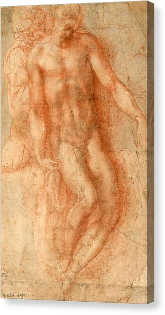 Michelangelo Simoni Canvas Print - Pieta by Michelangelo Buonarroti