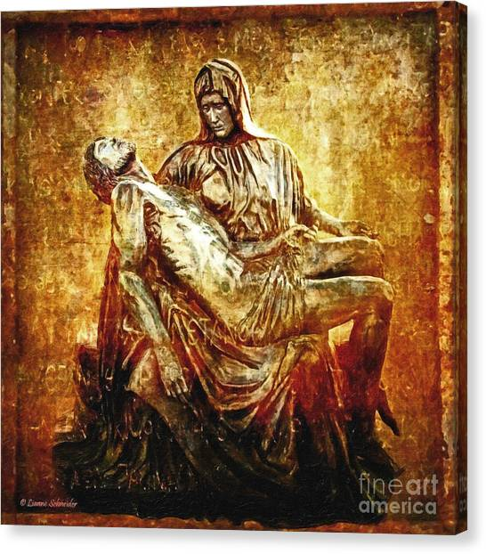 Groom Canvas Print - Pieta Via Dolorosa 13 by Lianne Schneider