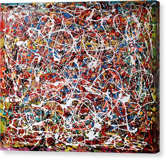 Pietyz Pollock - In Search Of Love Canvas Print