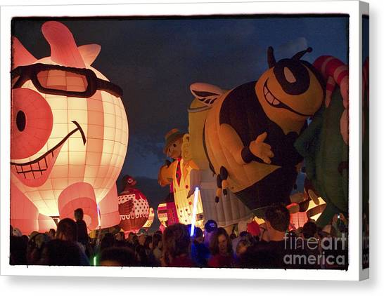 Hot Air Balloons Canvas Print - Pigasus And Crew by Susan See