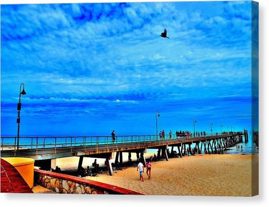 Pigeon Pier - Glenelg Beach - Australia Canvas Print