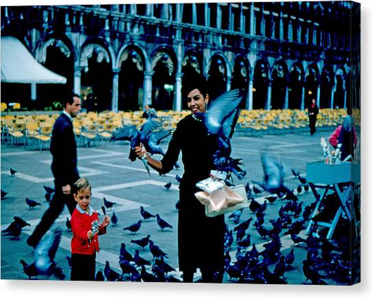 Pigeons 1961 Canvas Print by Cumberland Warden