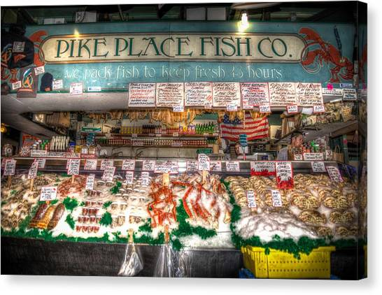 Pike Place Fish Company II Canvas Print