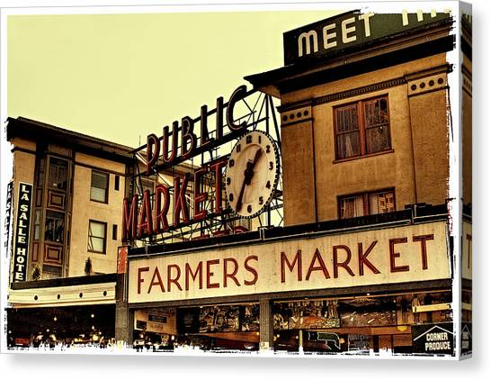 Pike Place Market - Seattle Washington Canvas Print