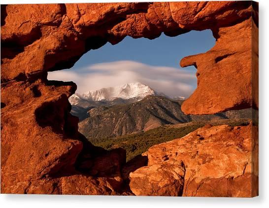 Pikes Peak Framed Canvas Print