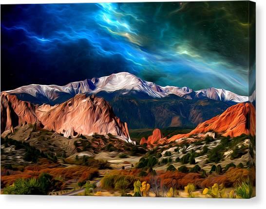 Pikes Peak Feelin' It... Canvas Print