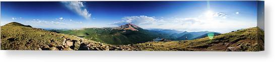 Pikes Peak Panoramic From Almagre Canvas Print