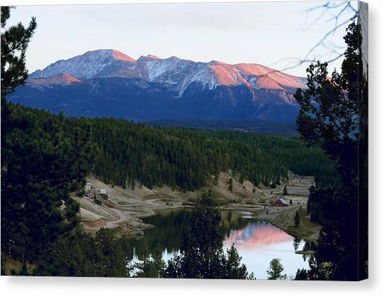 Pikes Peak Sunset Canvas Print