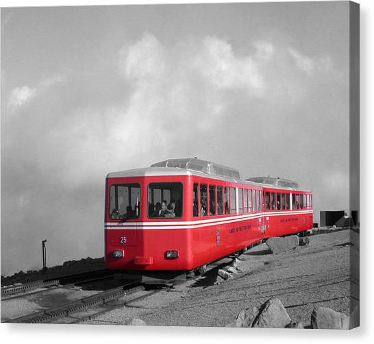 Pikes Peak Train Canvas Print