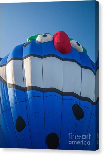 Hot Air Balloons Canvas Print - Piko The Hot Air Balloon by Edward Fielding