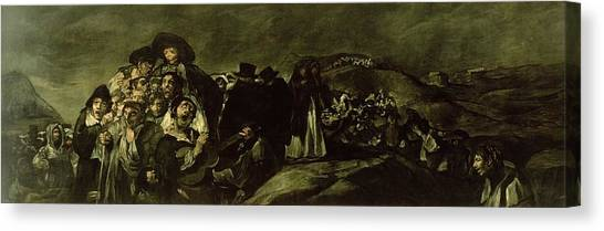 Pilgrims Canvas Print - Pilgrimage To San Isidros Fountain, C.18213 Oil On Canvas by Francisco Jose de Goya y Lucientes