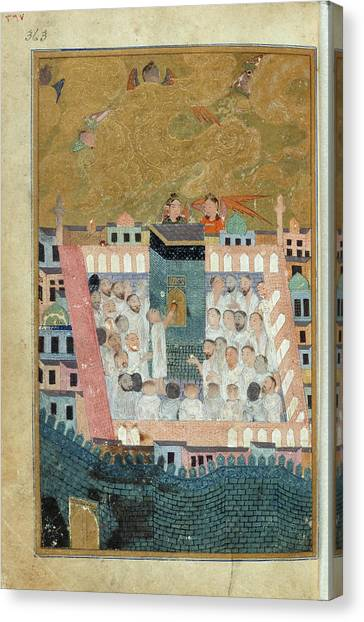 Pilgrims Canvas Print - Pilgrims To Mecca by British Library