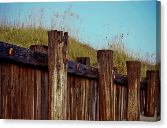 Pilings Folly Beach Sc Canvas Print