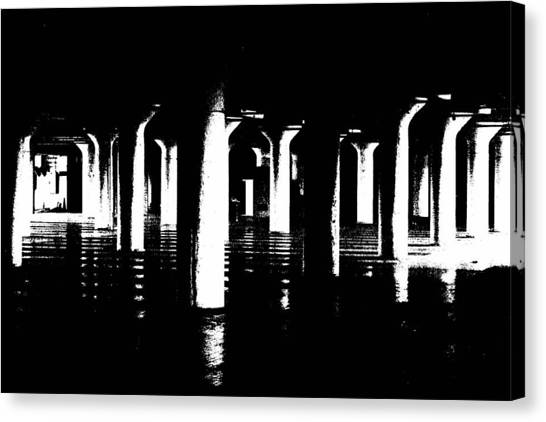 Pillars And Hardwoods Canvas Print
