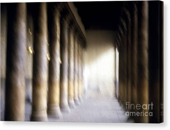 Pillars In Israel Canvas Print by Scott Shaw