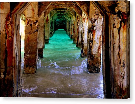 Tunnels Canvas Print - Pillars Of Time by Karen Wiles
