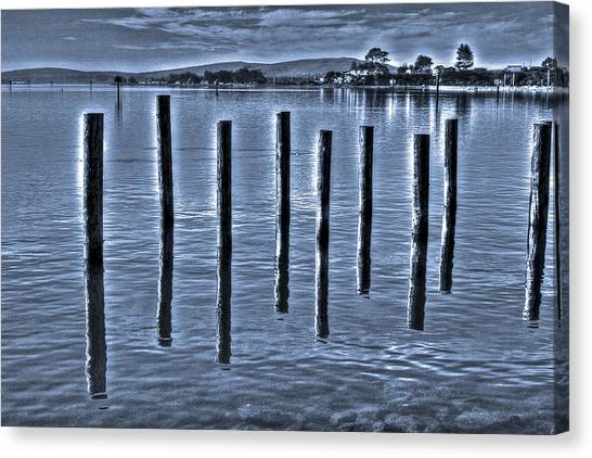 pillars on the Bay Canvas Print