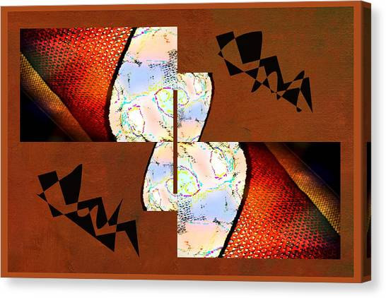 Frank Stella Canvas Print - Pillow Talk by Linda Dunn