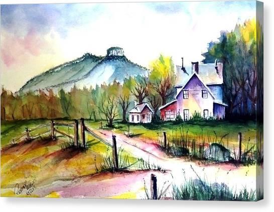 Pilot Mountain Nc Farm Road Sold Canvas Print