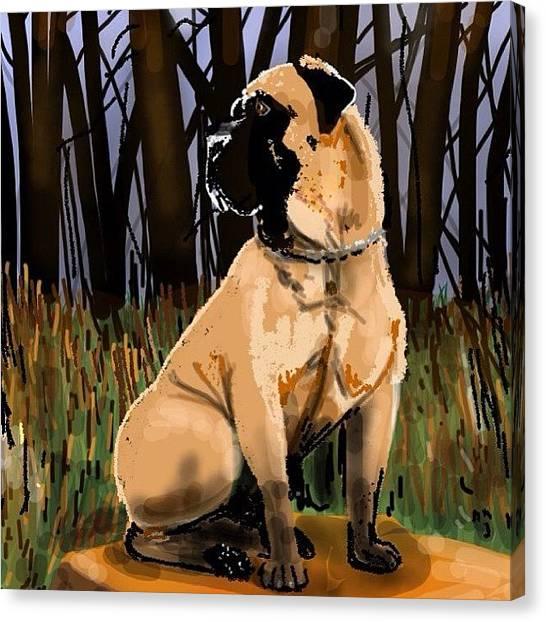 Mastiffs Canvas Print - Pim's Dog , A Free Draw Ds2 For by David Burles