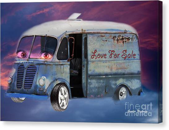 Pin Up Cars - #2 Canvas Print
