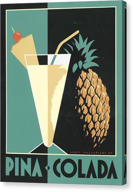 Pineapples Canvas Print - Pina Colada by Brian James