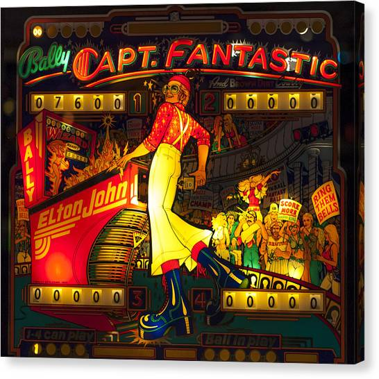 Pinball Machine Capt. Fantastic Canvas Print