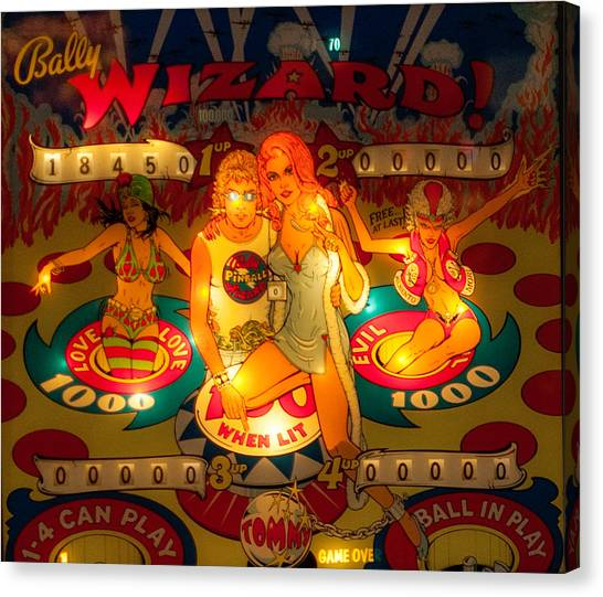 Pinball Wizard Tommy Vintage Canvas Print
